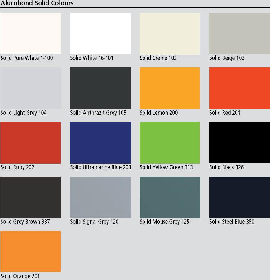 vision clad australia alucobond colours. Black Bedroom Furniture Sets. Home Design Ideas